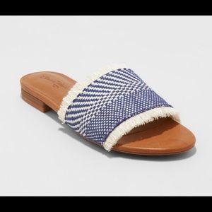 Universal Thread Yvette Woven Slide Sandals Sz 9